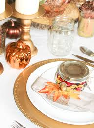 Thanksgiving Table Copper And Gold Thanksgiving Tablescape Plus Free Printable Tags