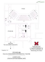 Performing Arts Center Design Guidelines Venue Information Home Office Hdrbs Miami University