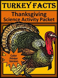 turkey activities turkey facts thanksgiving science activity packet
