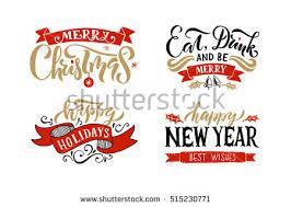 merry happy new year happy stock vector 515230771