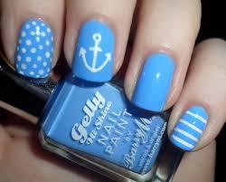 nautical nail art tutorial u2013 rara reid