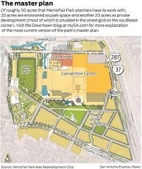 san antonio convention center floor plan bill to target hemisfair park san antonio express news