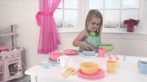 Kidkraft Pastel Toaster Set Kidkraft 27pc Cookware Play Set Pastel Youtube