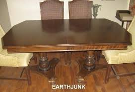 ebay ethan allen dining table ethan allen classic manor maple double pillar dining table and 2