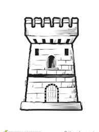 coloriage de château fort sur hugolescargot com