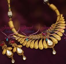 gold antique necklace set images 44 1 gram gold necklace sets 1 gram gold plated designer black JPG