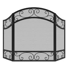 ideas u0026 tips 32 x 48 3 panel fireplace screens for fireplace