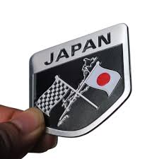 mazda emblem metal japanese flag emblem badge japan car sticker decals
