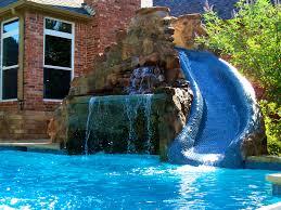 interior winning swimming pool waterfall kit backyard design