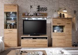 Wohnzimmerschrank Ohne Tv Fach Wohnwand Espero Asteiche Edelstahl Und Schiefer