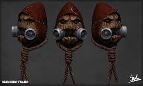 Scarecrow Mask Artstation Scarecrow Fanart Julien Lambert