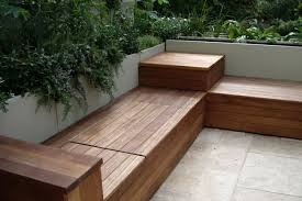 how to build deck bench seating build corner storage bench seat woodworking plans amp project
