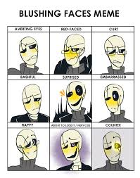 Meme Face Happy - blushing faces meme ut by bunnymuse on deviantart