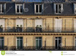 typical parisian french urban houses close up stock photo image