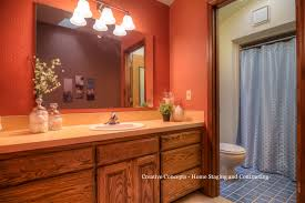 Staged Bathroom Pictures by Bathroom Wall Fixture To Replace Broadway Lights Home Staging