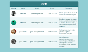 Css Responsive Table by Pure Css Responsive Table Web Design Pinterest