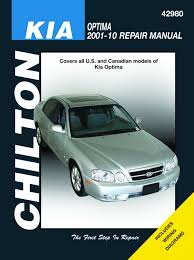 chilton u0027s kia optima 2001 10 repair manual chilton u0027s total car