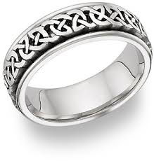 celtic knot ring caer celtic knot wedding band ring 14k white gold