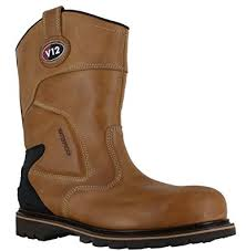 boots uk leather v12 tomahawk mens leather steel toe waterproof safety riggers