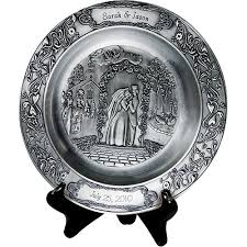 personalized wedding plate personalized wedding pewter plate walmart