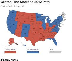State College Map by Electoral College Map Potential Paths To Victory For Clinton And