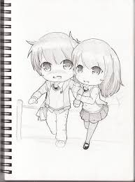 sketch book chibi couple by qsholic on deviantart