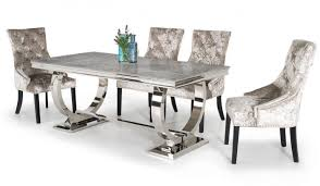 grey marble dining table arianna 180cm grey marble dining table and 4 eden chairs first