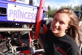 monster truck teen fearless female driver flips trucks