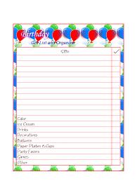 free printable gift lists money savers at kid scraps