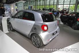 2018 smart forfour rear three quarters at iaa 2017 indian autos blog