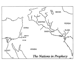 Babylonian Empire Map Handouts Outline Maps