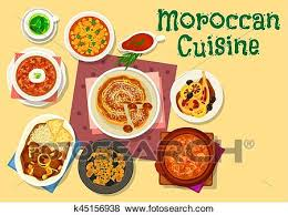 cuisine marocaine traditionnelle clipart cuisine marocaine traditionnel plats icône conception