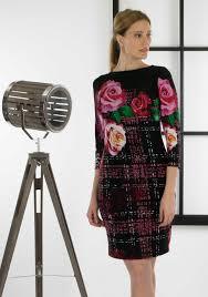 coloured dress buy joseph ribkoff cropped sleeve print dress multi coloured