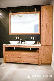 vanité chambre de bain vanité espace bois