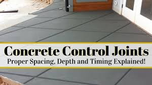 How Thick For Concrete Patio Concrete Control Joints And Proper Spacing Depth And Timing