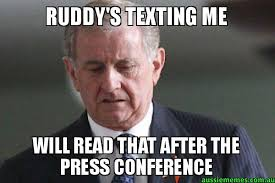 Simon Meme - ruddy s texting me will read that after the press conference