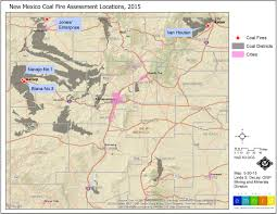 Map New Mexico by Underground Coal Fires In New Mexico Land Imaging Report Site
