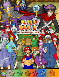 Paper Mario World Map by Paper Mario Ttyd Manga Cover By Nakagoe On Deviantart