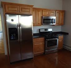 kitchen cabinet height from floor file newly renovated kitchen with cabinets refrigerator