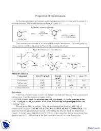 preparation of dinitrobenzene organic chemistry lab manual