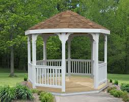 amazon com 10ft vinyl gazebo patio lawn u0026 garden