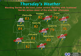 Tennessee Weather Map by The Weather Guy April 2012