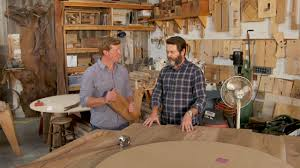 Woodworking Shows On Tv by Touring Nick Offerman U0027s Wood Shop Youtube