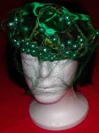 millinery wire vintage 50s millinery wire frame green satin fruit berry covered