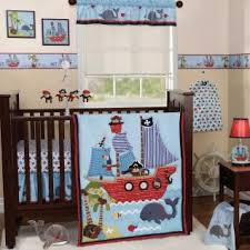 Boy Monkey Crib Bedding Pirate Themed Nursery Blue Nautical Pirate Themed Baby Boy Sea