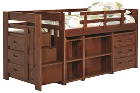 hutchinson twin mid high stairway loft bed