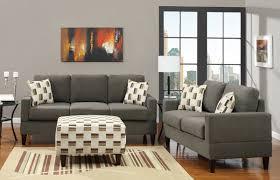 Microfiber Living Room Sets Sala 14 400 A Solo 11 990 00 En Color Gris Cojines De Corativos