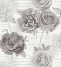 imagenes de rosas vintage papel pintado rosas vintage con letras y partituras gentiana 563691