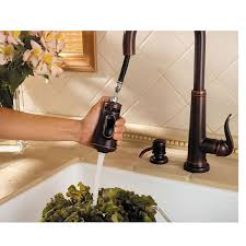 rustic bronze ashfield 1 handle pull down kitchen faucet gt529