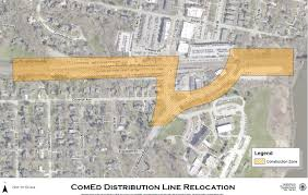 Geneva Map Comed Project Sets Stage For Third Rail Line At Geneva Metra Station